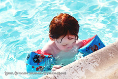 Summer Fun (tanya_little) Tags: life family boy summer hot cute love water childhood swimming canon fun living kid child sweet nevada joy young lifestyle happiness naturallight towel redhead reno float summerfun sparks redhair floaties biggestlittlecity t2i tanyalittle