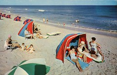 Howard Johnson's Motor Lodge, Palm Beach, Florida (SwellMap) Tags: people sun beach vintage pose advertising fun person photography design pc 60s surf fifties postcard snapshot suburbia fake posing style kitsch retro nostalgia chrome americana leisure 50s persons roadside populuxe crowds sixties babyboomer consumer groups coldwar midcentury atomicage