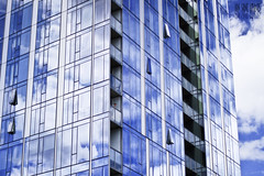 Up In The Clouds (Ian Sane) Tags: street sky man west building up clouds oregon reflections portland ian washington downtown balcony images patio avenue architects 12th twelve sane the in zgf