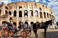 """""""Ponentino"""" Romano (Rome sweet home) Tags: horse sun coach sunny coliseo sole carrozza cavallo hdr colosseo closseum hdrpro"""