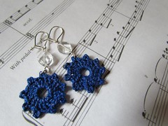 Free Crocheted Earrings Pattern (The Craftsy Blog) Tags: diy knitting handmade crochet knit craft jewelry earrings crafty crafting crocheting