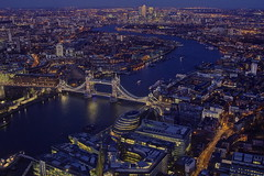 Blu, blu, blu…/ Blue, Blue, Blue... (Explore!!!) (Tower bridge, London, England) (AndreaPucci) Tags: uk london towerbridge explore canarywharf londra regnounito canonef24105mmf4lis canoneos60 theshard andreapucci theviewfromtheshard