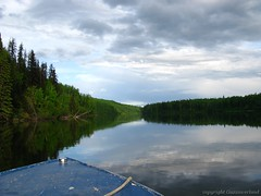 IMG_0868 (guzzioverland) Tags: friends sunset fish canada reflections fun moose logcabin rivers elk jetboat