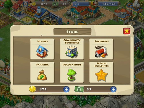 Township Items Store: screenshots, UI