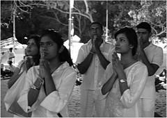 Prayer (Himash De Silva) Tags: white black praying cannon srilanka maha 6d bodi shree anuradapura