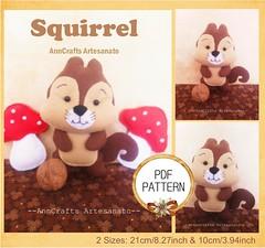 Esquilo Apostila (AnnCrafts Artesanato) Tags: baby animal decoration feitoàmão felt feltro floresta decoração esquilo bichinhos moldes raposa alce feltdoll apostila bonecasfeltro