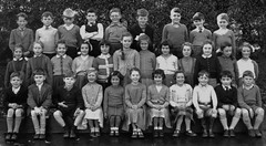 Cambusbarron, Scotland (theirhistory) Tags: school girls pee boys socks shirt kids children glasses shoes pants sandals group tie skirt class trousers jumper shorts form wellies peeing rubberboots tartan wetting