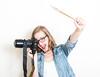 Day 112 Photographer vs artist (comme-un-bateau) Tags: camera portrait selfportrait art girl studio crazy nikon funny photographer professional jeans blond fullframe day112 passionate funnyselfportrait lovephotography crazyportrait 365project d700 112365