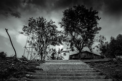 Light & Dark (Junayet Yum) Tags: light nature dark landscape blackwhite nikon monochromatic bandarban