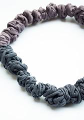 / BOHEMIANS / (dayanakazakova) Tags: dark necklace purple zoom pastel gray jewelry massive round accessories textiles dayana nodes kazakova