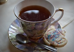 Tea and Queen Mum shortbread cookie (teatimewithemma) Tags: china party english cup vintage table cookie afternoon with time tea drink emma queen mum bone teacup setting shortbread tableware teatimewithemma