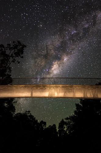 Walkway below the Milky Way