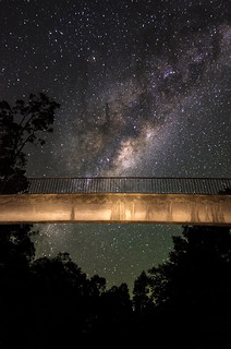 Walkway below the Milky Way