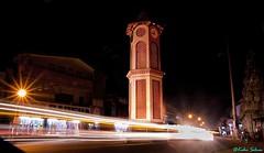Clock Tower (selvan.kalai) Tags: tower clock architecture night starburst virajpet lighttrail tamron1755f28 canon1000d