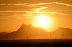 Golden Sunset (mamaztb@ymail.com) Tags: sunset golden highway تهران غروب كوه قم خليجفارس كوير بزرگراه اتوبان qomtehran