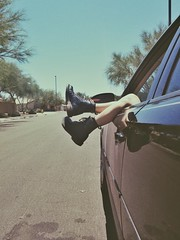 Just Hangin (Alexandra B Bruncak) Tags: arizona film car chevy docs docmartens combatboots docmartins