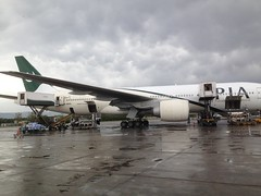 PIA airlines at Benazir Bhutto Int Airport!