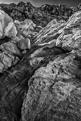 DSC_0132(B&W)FAA (john.cote58) Tags: josephyvoncote valleyoffire nevada mojavedesert moapavalley mountains rock stone geography erosion outdoors outside statepark dinosaurs art design landscape fossils ancient baron formations blackwhite monotone monochrome nature sky infrared ir
