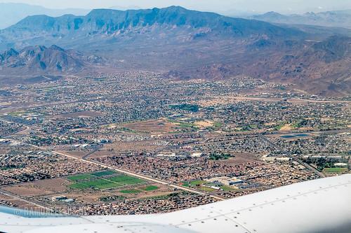 Flying over Las Vegas