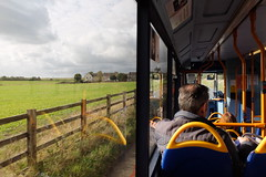 On the Bus (sgreen757) Tags: fuji fujifilm x30 bus window grange man fence hawkesbury upton glos gloucestershire south