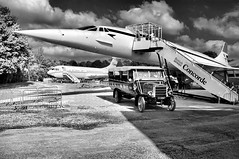 Old and Not so Old (RT4404) Tags: concord concorde brooklands gbbdg leyland charabanc cc1087 lnwr bw monochrome ba blackandwhite