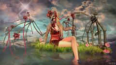 Another fantasy world (Anita Armendaiz) Tags: astralia bird boon catwa head fantasy gacha guardians life maitreya nanika reflection second sys the collective tres chic wings elf ears