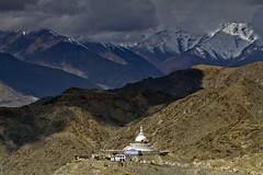 My heart lies there in the Himalayas... (The Canon Fanboy) Tags: himalayas india leh ladakh landscape photography canon clouds barren himalayan photographer bobbyroy delhi shantistupa monastery buddhism buddhist lama