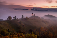 Autumn is here... (Maverick) Tags: depth jamnik julian alps sunrise morning fog me sky wow red nature blue tree green art light sun clouds landscape autumn fall season yellow pink old orange trickortreat nikon d800 longexposure slovenia kranj saints primus felician ljubljana kamnik savinja serene mountains snow alpine church worship dawn foliage colors colorful ecstacy europe