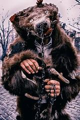 Ritual of The Bear Tamer (vetlife2005) Tags: ritual traditional folclore beartamer bear mask bearmask life romania street romanianfolclore countryside