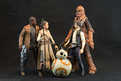 Disney Store Star Wars Elite Series (edwicks_toybox) Tags: bb8 chewbacca daisyridley disney finn fn2187 hansolo harrisonford johnboyega lucasfilm petermayhew rey starwars starwarsblack starwarselite theforceawakens toys
