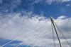 Triangle (pepsamu) Tags: 1100d canon puente bridge líneas lines cielo sky nubes clouds ireland eire irlanda architecture arquitectura ingeniería engineering calatrava arco arc arpa harp dublín dublin liffey samuelbeckettbridge samuelbeckett samuel beckett blanco white tirantes acero estructura steel structure cables cable