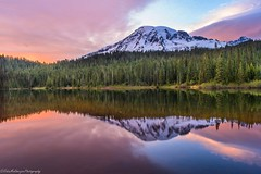 Clouds come floating into my life.. (Robie..) Tags: mtrainier seattle washington northwest nikond750 sunset refelection reflectionlakes