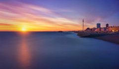 Time to Reflect (Langstone Joe) Tags: brighton britishairwaysi360tower westpier palacepier sunset reflections seascape landscape longexposure firecrest16stopndfilter
