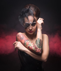 (den_z1n) Tags: studio girl model hair mua smoke portrait beauty