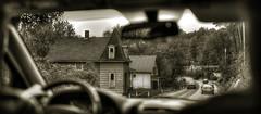 Passenger's View (Jon Scherff) Tags: bellowsfallsvt vermont sepia road oldhouse victorianhouse 35mm afsnikkor35mmf14g