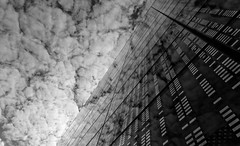 Confusion (Guillaume DELEBARRE (Guigui-Lille)) Tags: reflet reflection reflets reflexion verre windows clouds cloudysky nuages nuageux canon noiretblanc blackandwhite bw nb wb canoneos6d sigma1224mmf4556iidghsm world100f