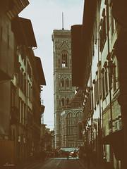 Campanile di Giotto (lamnn92) Tags: florence firenze piazzadelduomo belltower church basilica santamariadelfiore gothicarchitecture building landmark viadelloriuolo vertical structure shadow highlight classic film travel lumix panasonic fz1000