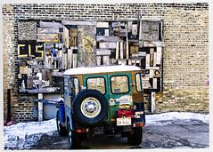 CLS Installation - Halsted (swanksalot) Tags: westloop streetart wood sculpture toyota wall chicago tweeted