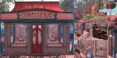 NX-Nardcotix - Le Confiserie (Nardcotix) Tags: nxnardcotix nardzie nardyarousselot thearcade gatcha gacha candystore candycane cottoncandy suckers christmas chocolate lollipops vintage cashregister artnouveau candyapples candyjars jars decor interior pastels decoration