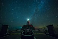 Starry Night from the Foc's'le (Royal Canadian Navy / Marine royale canadienne) Tags: hmcsstjohns jacekszymanski rcn royalcanadiannavy stj ship timelapse royal canadian navy star stars long exposure starry night sky beautiful beauty