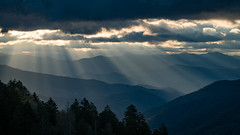 Smoky Mountains (Jeremy Duguid) Tags: great smoky mountain national park newfound gap gsmnp travel nature landscape beauty sunrays rays gods ridges mountains south southeast clouds sunny morning sunrise dawn trees sony jeremy duguid