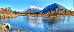 Vermillion Lakes, Banff National park, Alberta, Canada - ICE(5)1421-1430 (photos by Bob V) Tags: mountains rockies rockymountains canadianrockies alberta albertacanada banff banffpark banffnationalpark banffalberta banffalbertacanada panorama mountainpanorama vermillionlakes mountrundle sulphurmountain