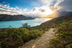 Sunset in Torres del Paine National Park (lpcortesfotografias) Tags: landscape nature sunset mountains clouds sky lake path tokina1116mm sonya58 sony torresdelpaine regiondemagallanes chile outdoor chiletravel chileestuyo atardecer tokina tiffen paisaje patagonia