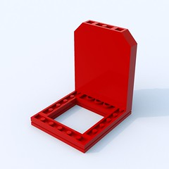 Mini Fig. Back Plate w. knob ([ dA ]) Tags: mini fig back plate knob minifig lego brick ldd bluerender