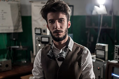 BioShock (evgeniy_ruban) Tags: man model light color portrait great stempanks device canon 50d sigma 30mm
