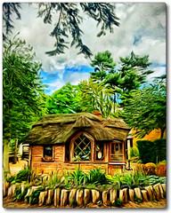 Day 338 of 366 - Little Hobbit House! (editsbyjon) Tags: painterly iphoneography iphone365 iphone summerhouse phototoaster picsart snapseed vividhdr digitalpainting digitalart warwickshire charlecotepark building architecture serene outdoor photoborder