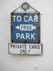 RAC CAR PARK SIGN (Barrytaxi) Tags: