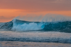 Blue Crush (Heather Smith Photography) Tags: blue sunset pipeline water island surf oahu crashing hawaii orange waves northshore ocean pacificocean beach sony a7s2