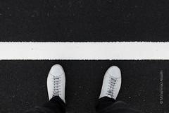 DSCF0443.jpg (Mohammad Alsaafin) Tags: paint stripe road geometric street line black twotone straight tar shoes white