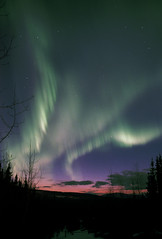 Aurora Sunset (film) (northern_nights) Tags: cffaa twilight sunset film northernlights aurora auroraborealis nikonfm2 nikkor35mmf14 fairbanks alaska sky stars clouds 100v10f